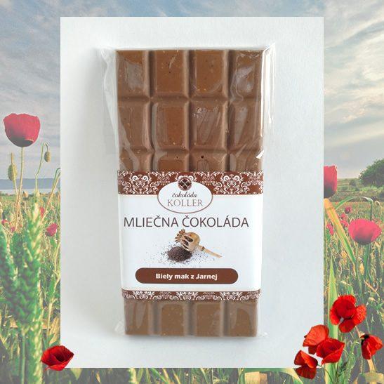 Mliečna čokoláda s bielym makom