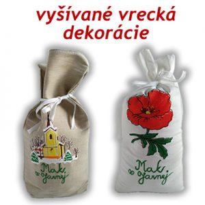 Ozdobné vrecká, dekorácie