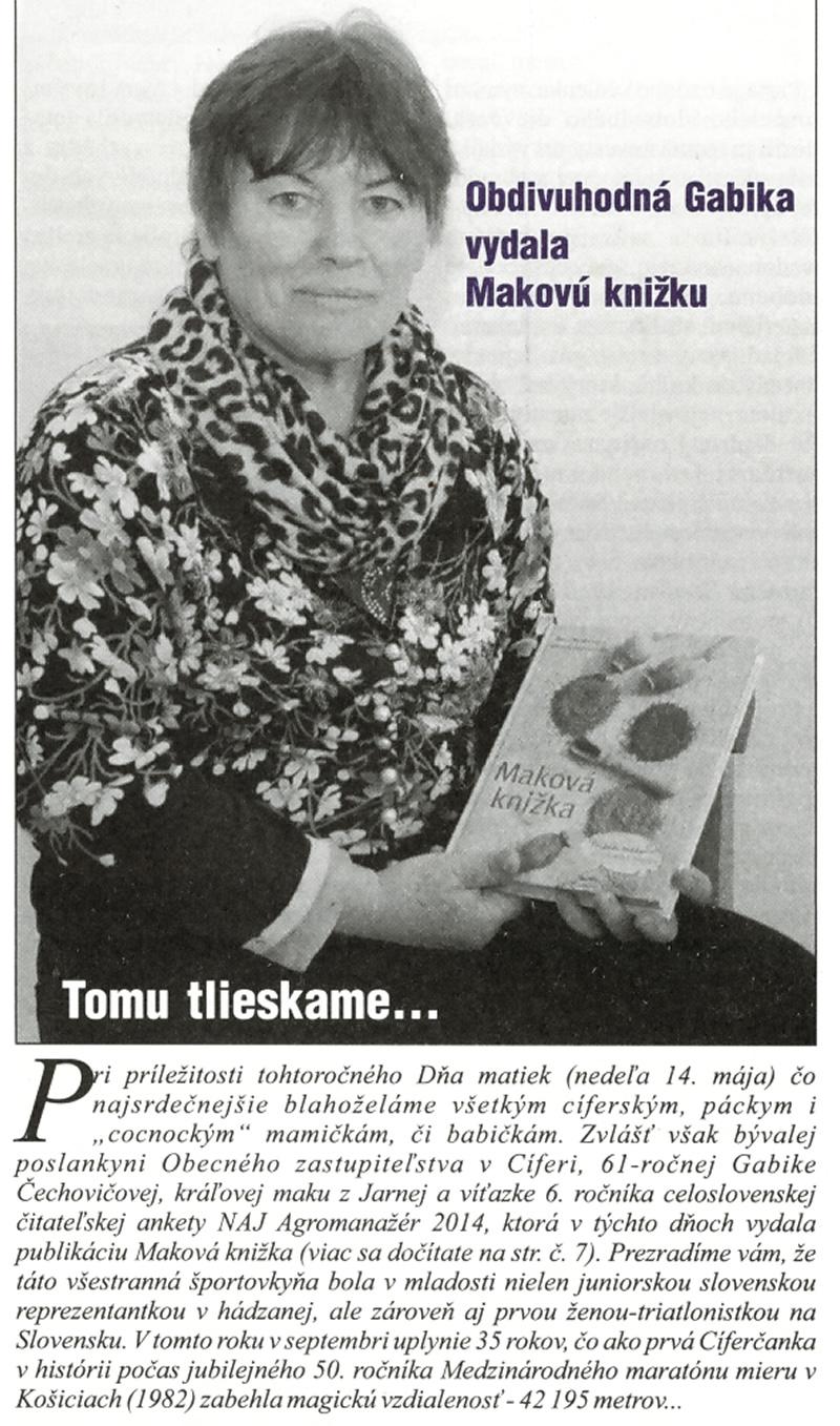 Mak z Jarnej - Gabriela Čechovičová -Cífer Press , vydanie 04.2017