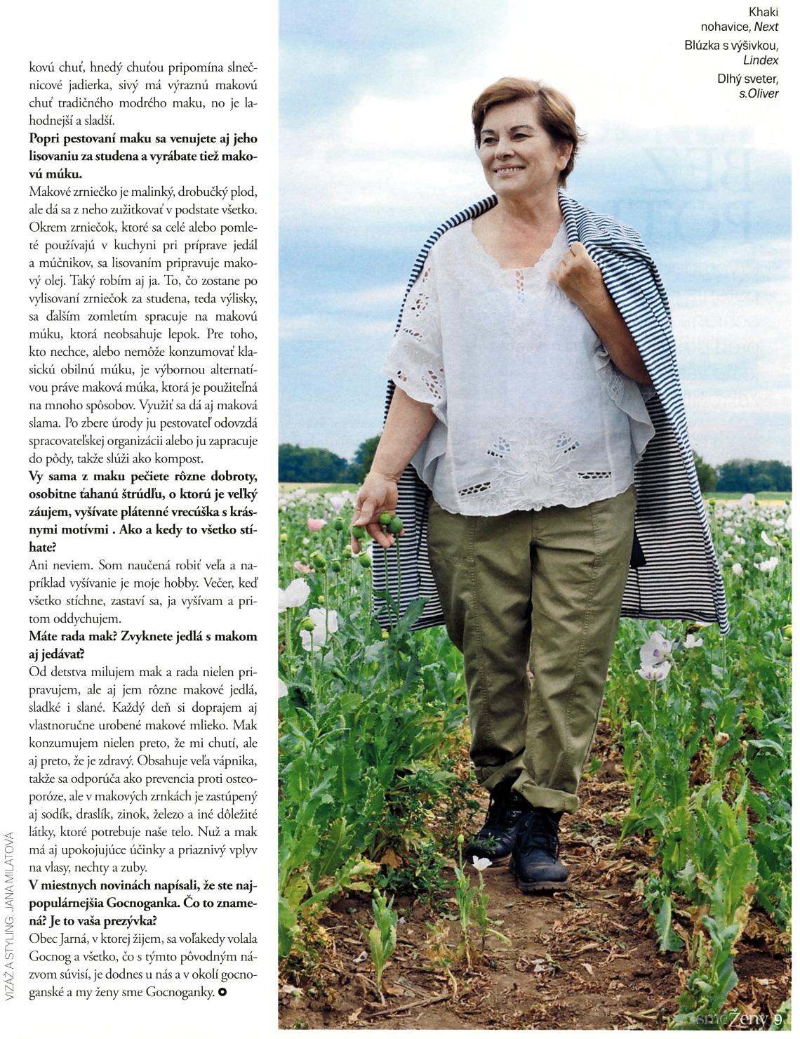 Mak z Jarnej - Gabriela Čechovičová - SME Ženy – osobnosť, číslo 30, 29.júla 2017